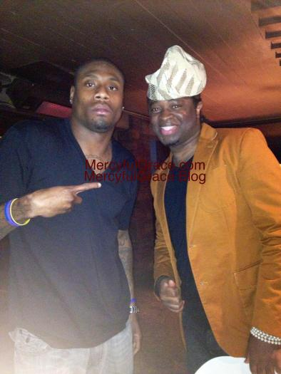 Jacoby Jones (Baltimore Ravens with Àrèmúorin - Anthony Everest