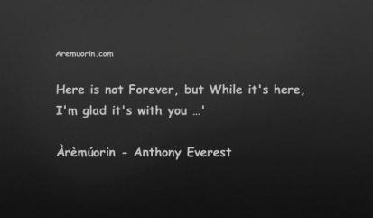 Life Quotes - Forever - Aremuorin.com
