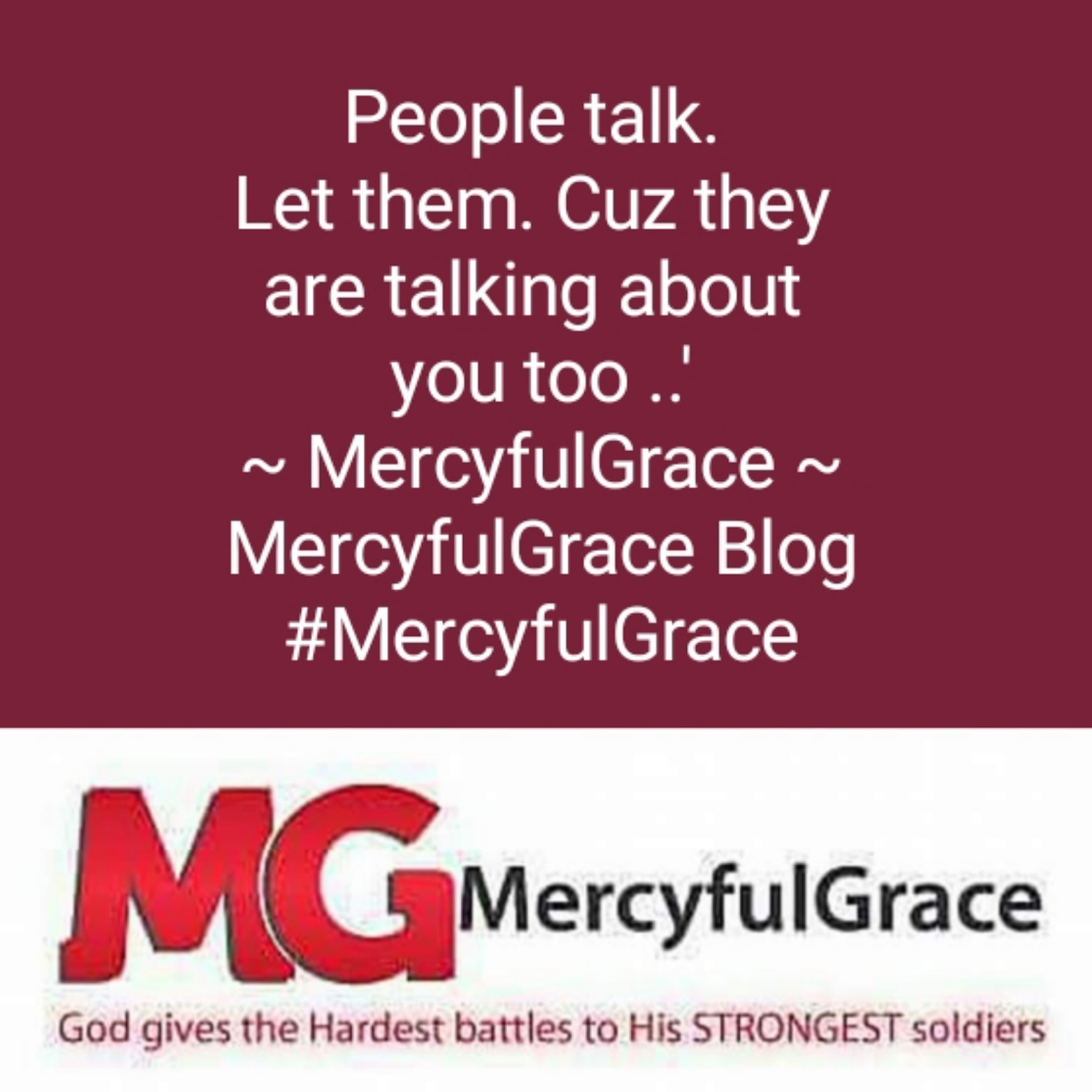 People talk - mercyfulgrace blog